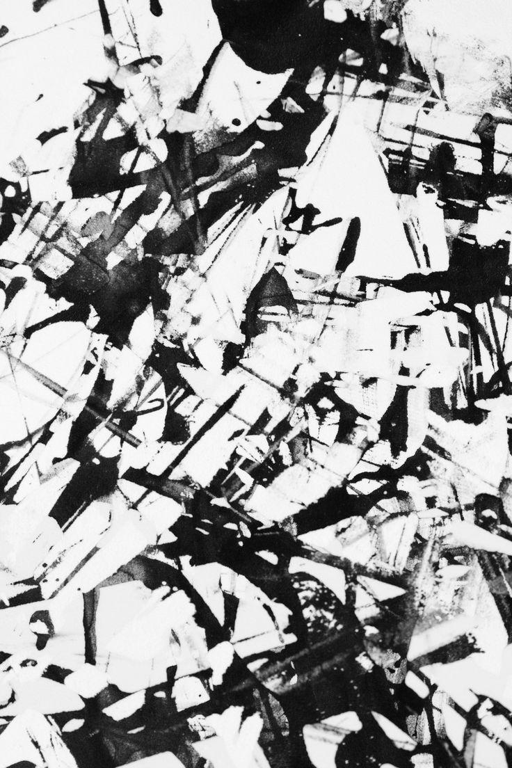 Mark making inspiration for monochrome surface pattern design - bold black & white print