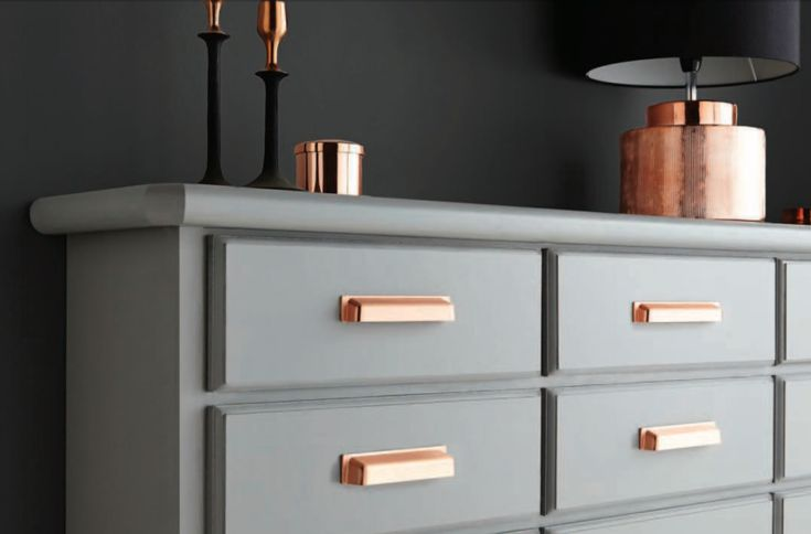 brushed copper kitchen cabinet cup handles