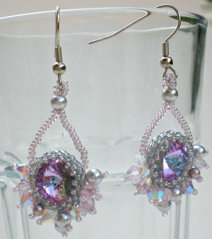 #Beaded, #Earrings, #Jewelry Swarovski Rvoli Crystals Pearls Grey Silver Opal   by SpringColors - http://www.judaic-jewelry.com/earrings/swarovski-rvoli-crystals-pearls-grey-silver-opal-by-springcolors.html