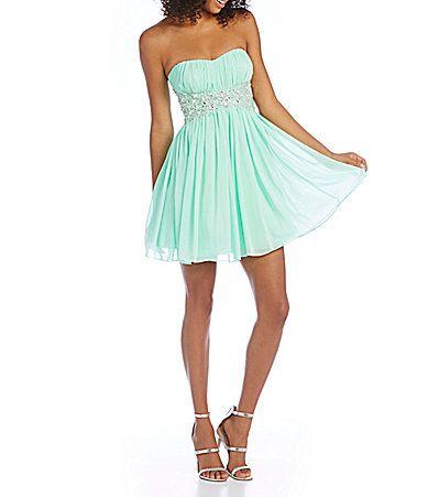 B Darlin Beaded Waist Party Dress Dillards The Style Of