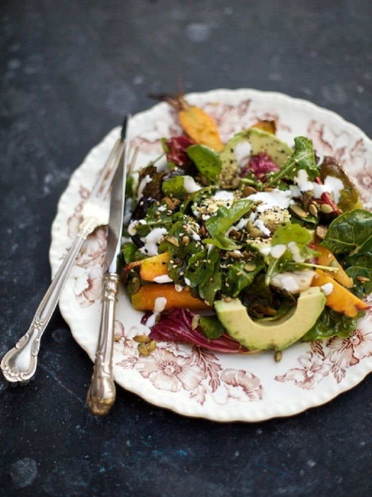 Roasted Carrot & Avocado Salad | FABULOUS FOOD. | Pinterest