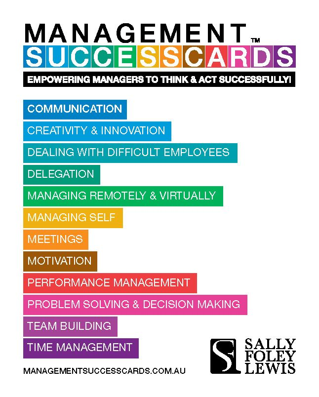 Motivational Quotes For Sports Teams: Back Of The Management Success Cards™ 65 Cards : 5 X 12