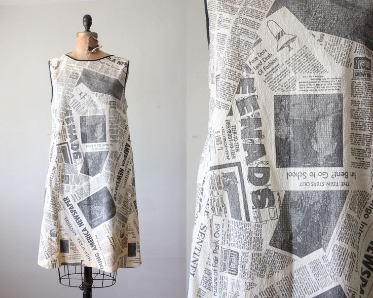 Holy Moly! Dress. Material: Paper. Print of news from the Milwaukee Journal Sentinal.    [ via Etsy.]