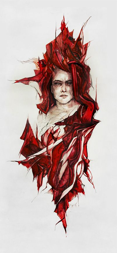 Blood in glass by agnes-cecile.deviantart.com