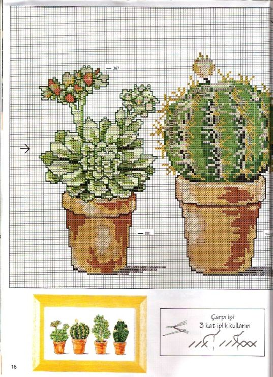Cactus 1/2 | Plants [Pattern / Chart] [Summer - Cross Stitch]