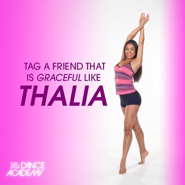 Tag a friend that is graceful like Thalia ( @itstaveets ) #thenextstep