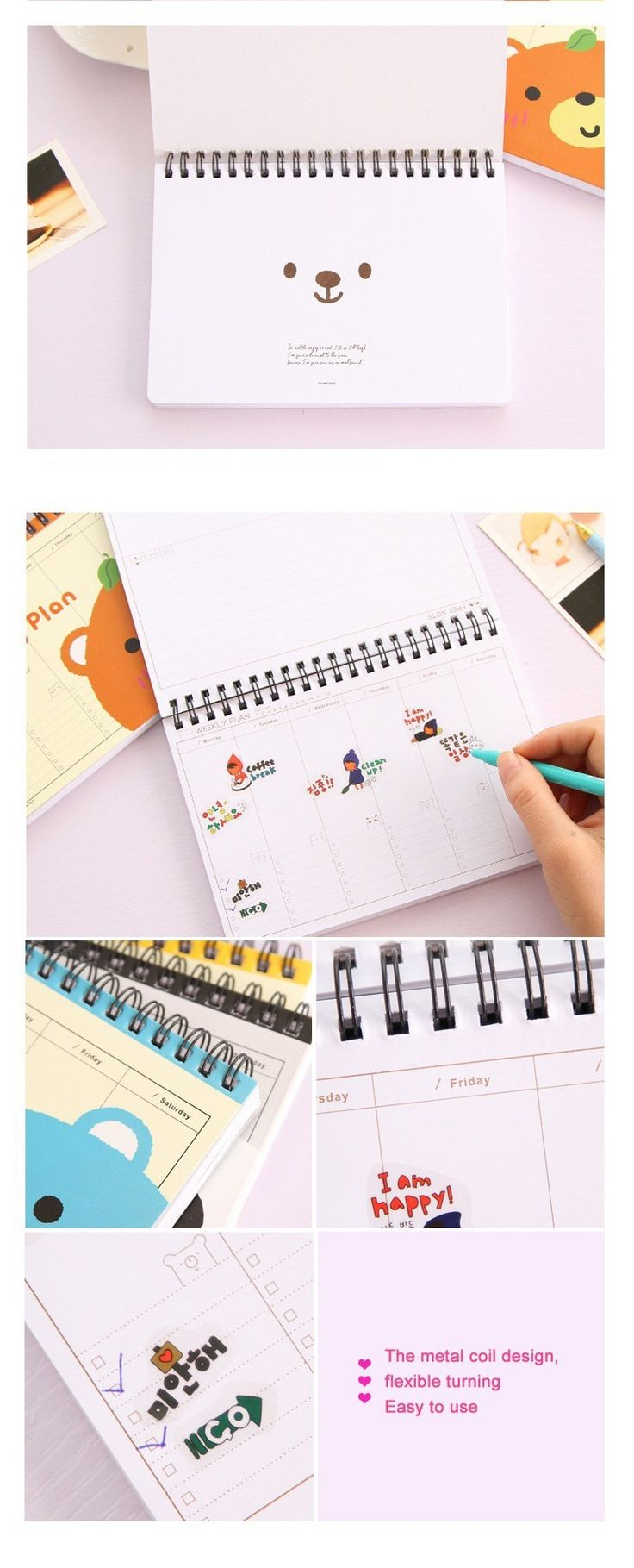 Hot organizador planejador Semanal notebook Planejadores Bonito escola caderno de papel Diário livro de Nota Notepad Escritório Escola Suprimentos presente em Cadernos de Office & School Suprimentos no AliExpress.com | Alibaba Group