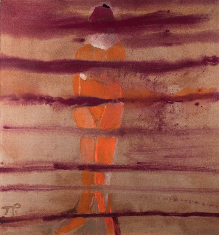 TERESA PĄGOWSKA (1926 - 2007)  HORYZONTY, 2002   olej, płótno / 140 x 130 cm  sygn. l.d.: T.P.  opisany na odwrocie: TERESA PĄGOWSKA 2002 HORYZONTY 140 X 130/ T. Pągowska 2002