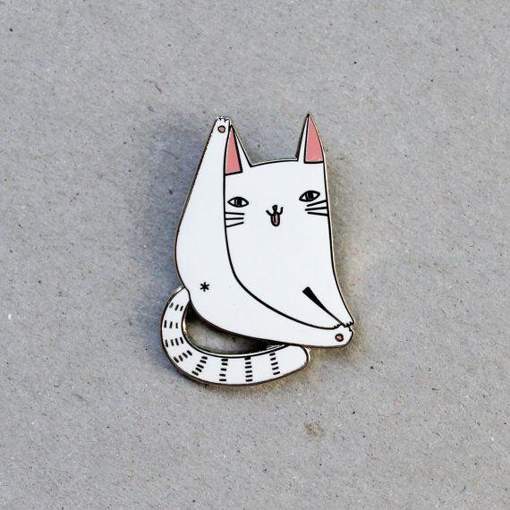 Kat forever glazuur pin badge  revers metalen door SurfingSloth