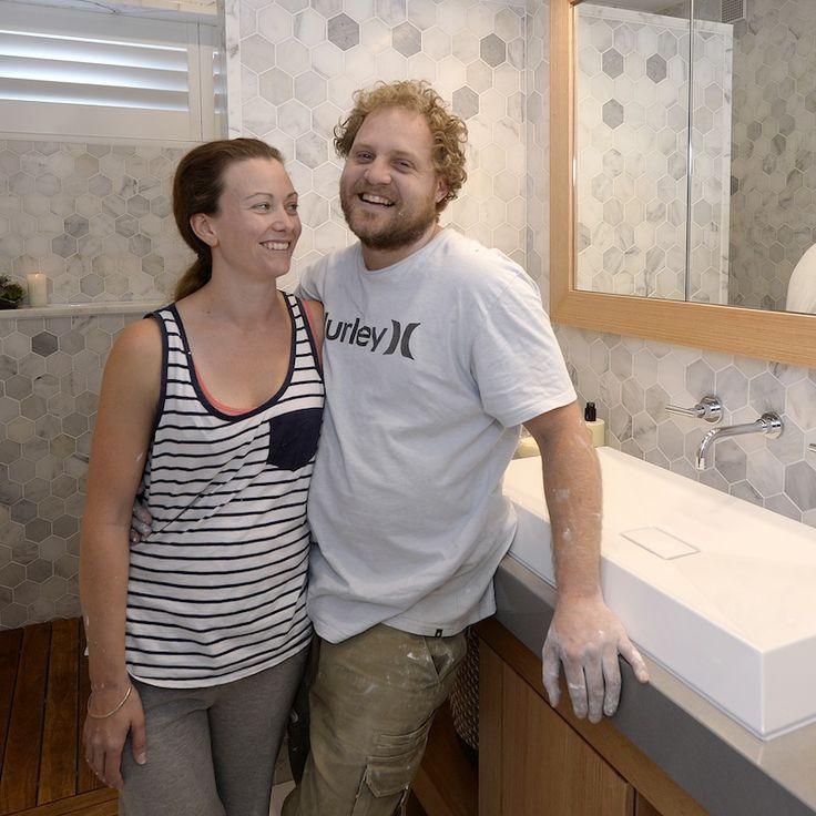 Jess and Ayden | Room Reveal 2 | Main BathroomThe Block Shop - Channel 9