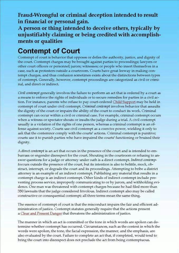 Contempt of court just wait haha