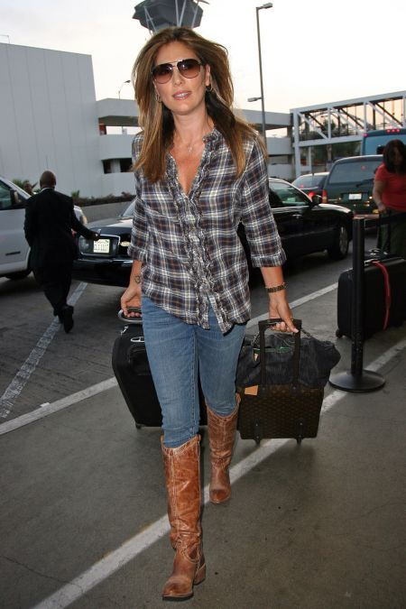 Women Wearing Cowboy Boots | best thing cowboy boots go best with is plaid so pair your boots ...
