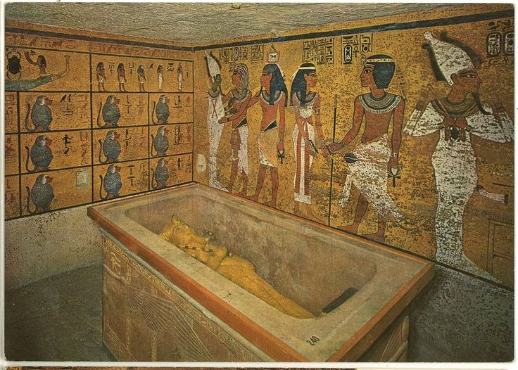 North western corner of tutankhamun 39 s burial chamber for Ancient egyptian tomb decoration