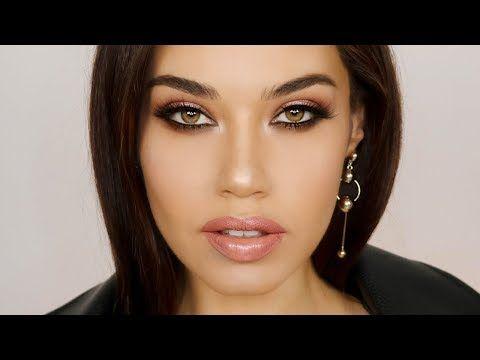 Full Glam Makeup using 1 Eyeshadow Palette | Smoldering Oscar 2018 Makeup | Eman - YouTube