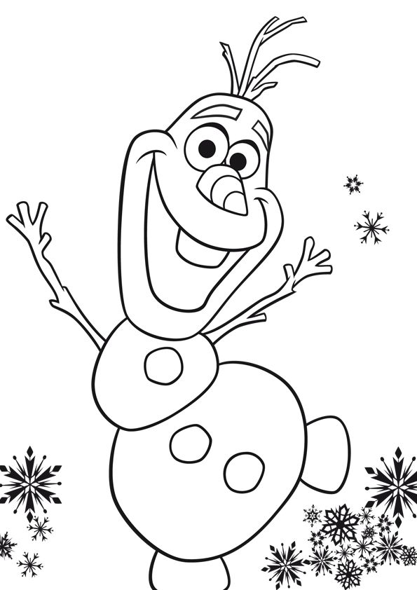olafs face coloring pages - photo#34