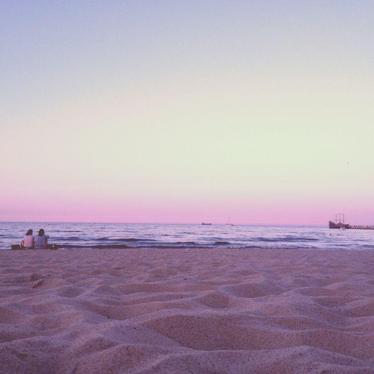 Evening at Sopot beach