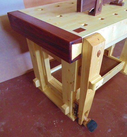 NEW VISE AND BENCH -- love the exotic wood trim | Workbenches | Pinterest | Bench, Woodworking ...