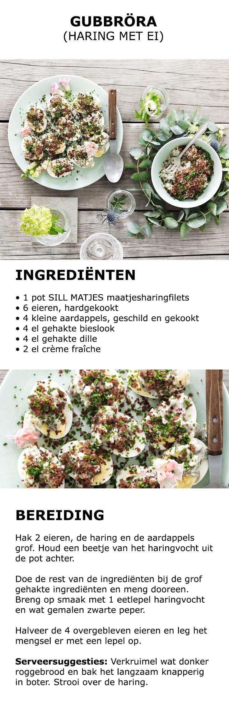 Inspiratie voor Midsommar - Gubbröra (haring met ei) | #koken #keuken #recept…