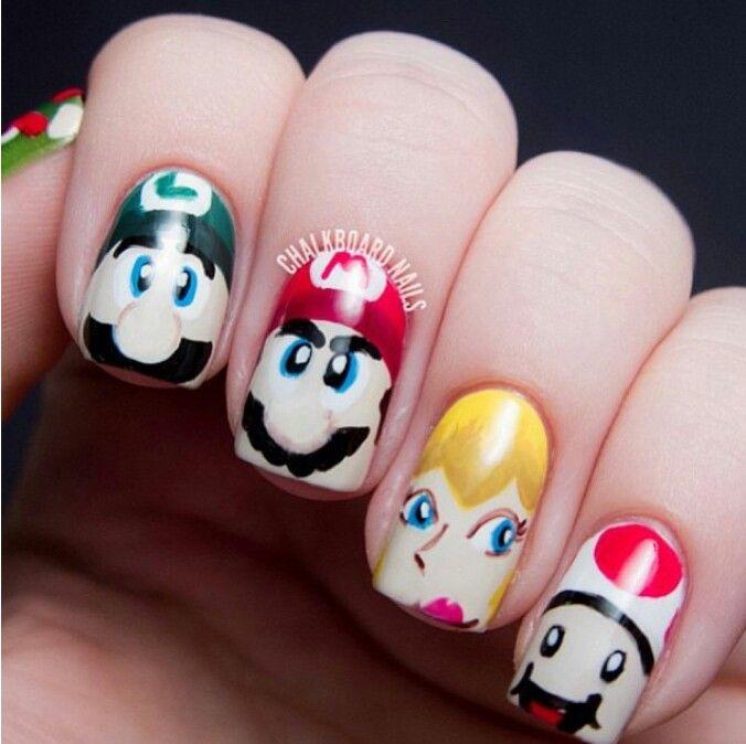 51 best Nintendo Nail Art images on Pinterest | Videogames ...