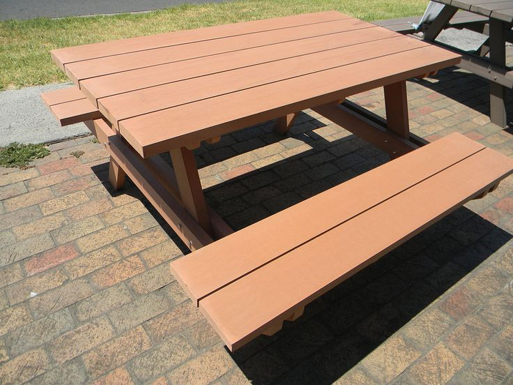 Composite Decking Picnic Table OUTDOOR SPACE Outdoor