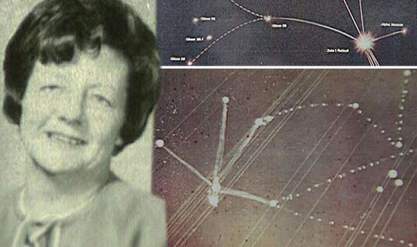 THIS is the staggering star map drawn by a woman who claimed she was abducted by aliens more than 50 years ago.