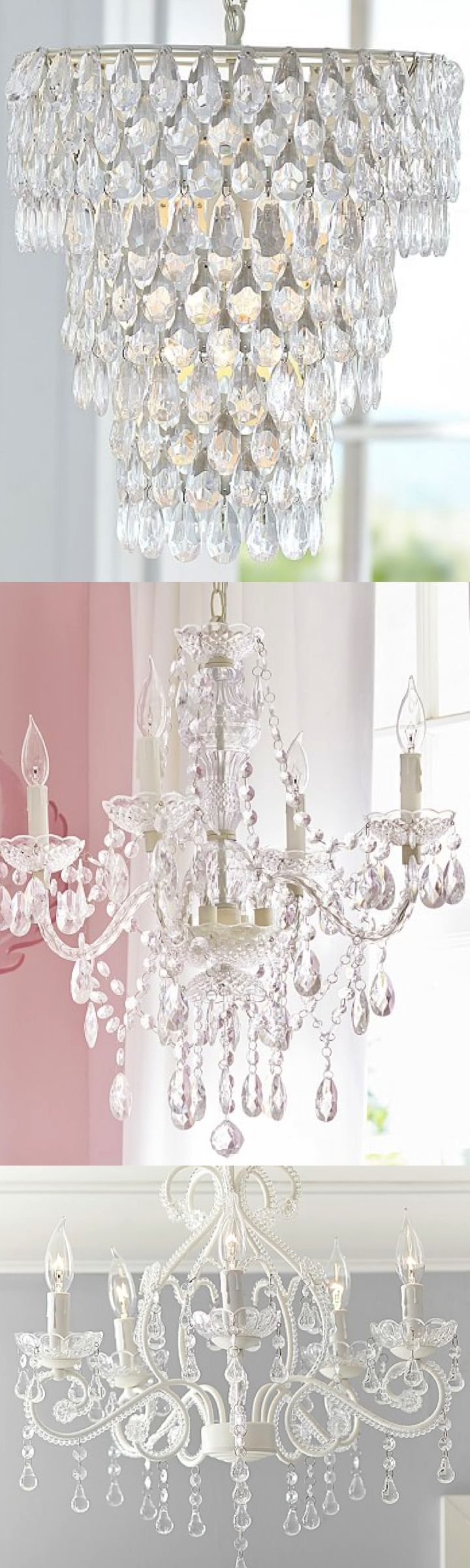 Gorgeous chandeliers | Nursery Ideas
