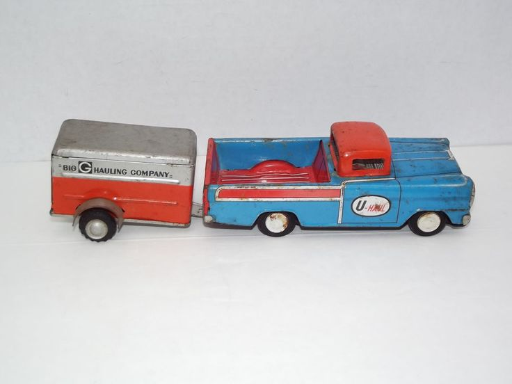 Trat Er Toy : Old uhaul tin pickup truck trailer toy u haul private