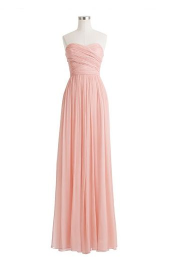 J.CREW Petite Arabelle Long Dress in Silk Chiffon would be cute with cardigan