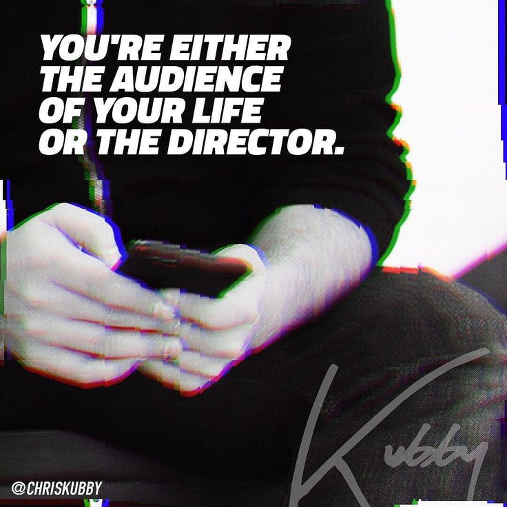 Are you calling the shots? Are you deciding? Are you directing your life with intention and focus or are you just the audience? Passively watching your life go by? I hope you're the director. Action!!!