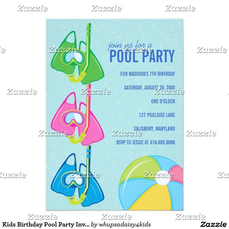 Pool Birthday Party Invitation as good invitation example
