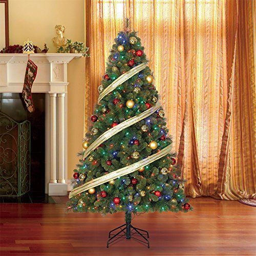 Pin On Christmas Trees Christmas tree with dual lights white and multicolored