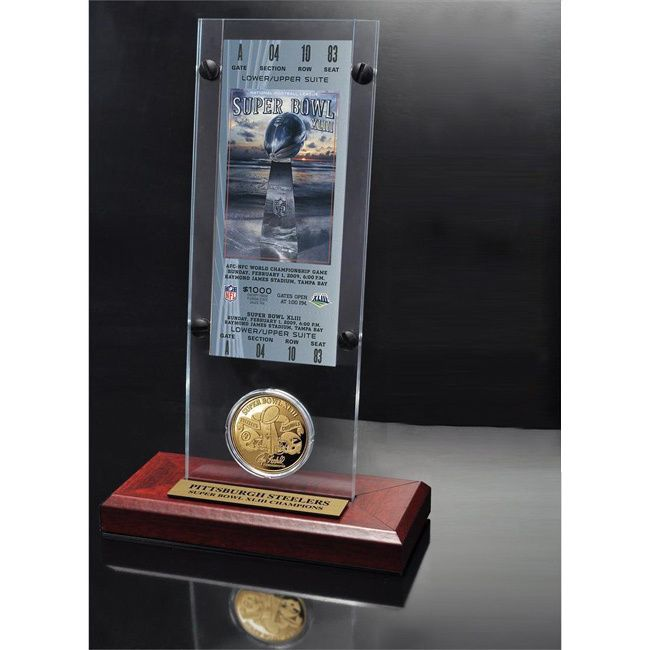Highland Mint NFL Super Bowl 43 Ticket and Game Coin Collection