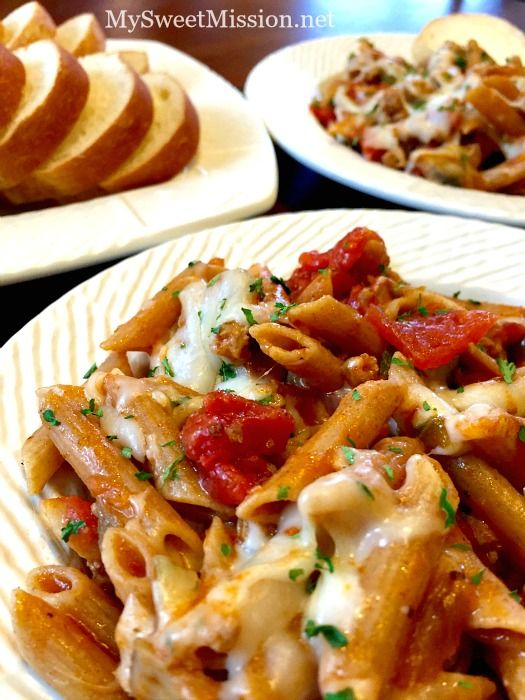 Sweet Italian Sausage Pasta - My Sweet Mission (http://morselsoflife.com/five-friday-finds-208.html)