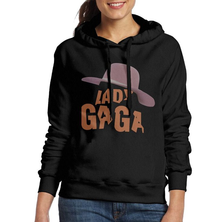 MARC Women's Joanne Lady Gaga Sweatshirt Black Size S. 100% Cotton. Machine Washable. Free Shipping With 2 Pieces Or More.Best Gift For Your Friends And Your Family. Between Two Optional Sizes,Choose The Bigger One. Expected Shipping Time: 8-15 Working Days. S Bust 52cm Length 62cm\r\nM Bust 54cm Length 64cm\r\nL Bust 56cm Length 66cm\r\nXL Bust 58cm Length.