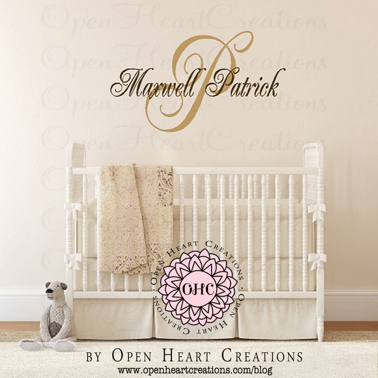 Best Open Heart Creations Wall Decals Images On Pinterest - Personalized custom vinyl wall decals for nursery