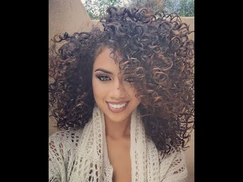 Curly Hair Routine #2 (between wash days) - YouTube