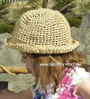 Get ready for summer fun with thisquick and easy crocheted straw hat pattern. This hat has a charming rolled brim, wide enough to protect eyes from the sun, but light enough to be comfortable and cool. Make your own crushable, easy wear sun protection, perfect for beach, swimming, and gardening! This pattern includes multiple sizes from infant through adult.