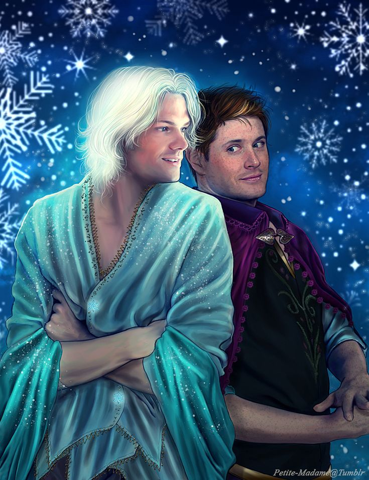 Supernatural meets frozen?? How have I not seen this before! I mean what the hell? Hahah this is just..... No words!