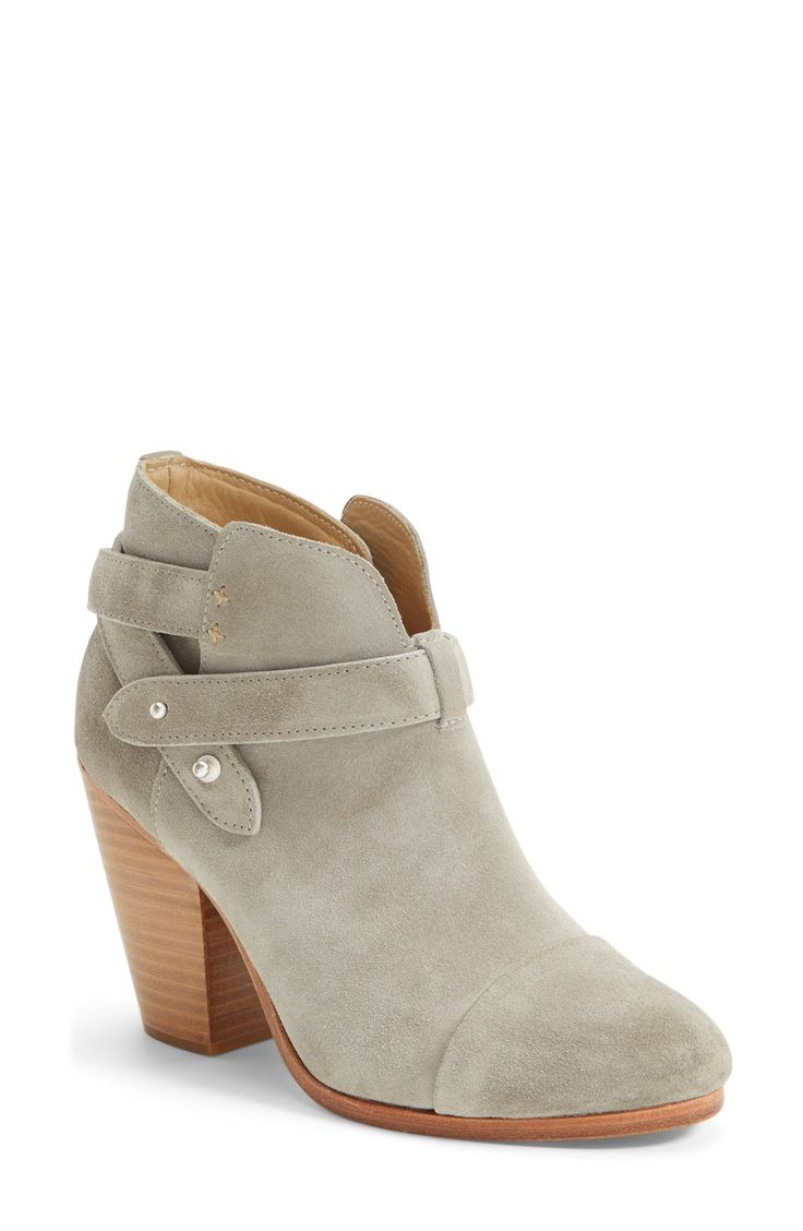 Could wear these light grey suede booties with distressed denim or a cute spring skirt.