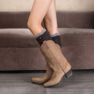 1 Pair Women Knitted Leg Warmers Boot Cover Keep Warm Socks Knit Socks for Boots Knitting Socks