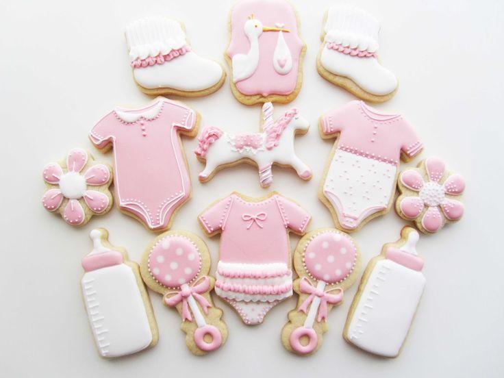 Nye baby, babyshower, lille pige, barnedåb, småkager, fest, Lille Kage Hus, Danmark