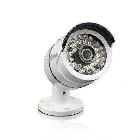 HD 1080p video quality Bullet Security Camera 30 Metres excellent Night Vision Cable threaded through stand for additional security Weather Proof IP66 casing Wide 76° angle of view to see more of what is going on. Suits AHD