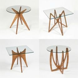 Dock 312 Side Tables   Flat Packed And Made Of Glass And Bamboo Plywood