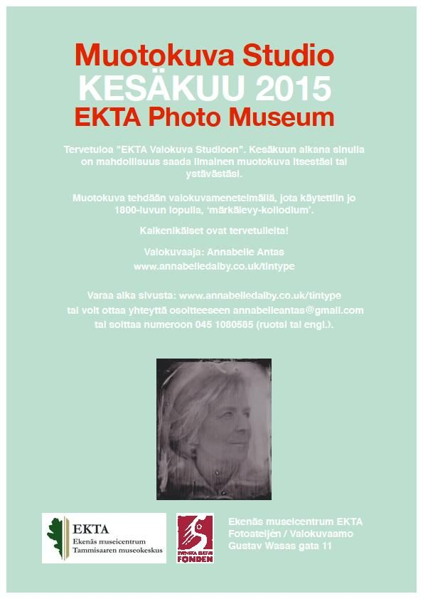 Ota mahdollisuus ja saada uusi muotokuva itsestäsi 1940-luvu valokuvaamosta museosta. #EKTAMuseumcenter #Raasepori #vaolkuvaamo #märkälevy #Tammisaari