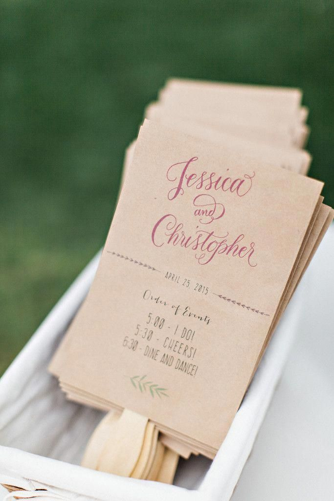 diy wedding program fans tips how to and some fun information to