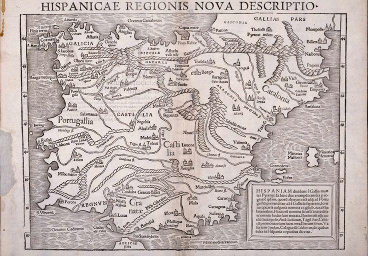 Hispanicae Regionis Nova Descriptio [Sebastian Münster] Fuente.