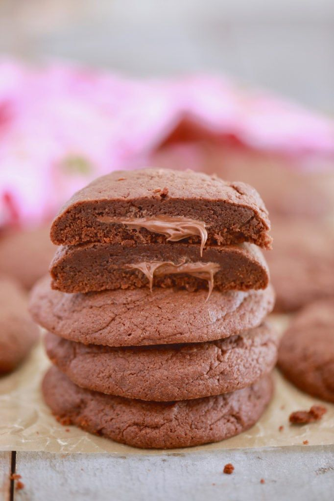 Nutella Lava Cookies Recipe For My Little One Pinterest