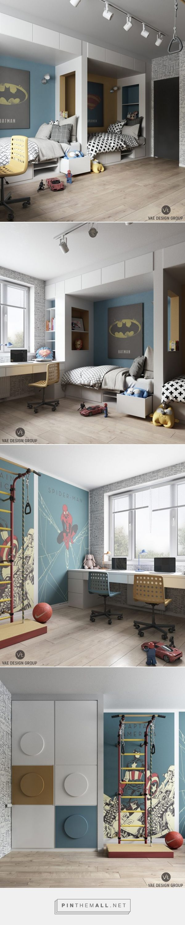 Superhelden Zimmer - Stil Fabrik - created via https://pinthemall.net