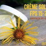 Crème solaire de FPS 15-20