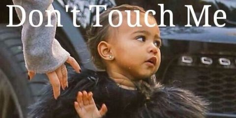 North West - Don't touch me I'm famous meme -Sugarscape.com